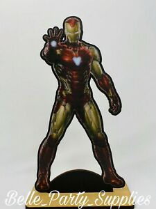 10quot; Avengers Iron Man Wood Stand Party Prop Centerpiece Birthday Table Decoratio $8.99