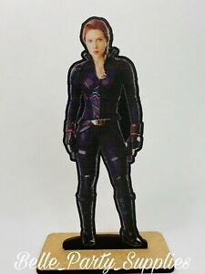 10quot; Avengers Black Widow Wood Stand Party Prop Centerpiece Birthday Table Decor $8.99
