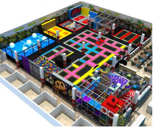 30500 sqft Turnkey Trampoline Park Ninja Course Playground Rock Wall We Finance