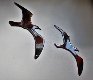 Two Birds Flying    Metal Wall Art Accents copperbronze $9.99