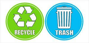 Trash and Recycle Symbol Sticker Decal Various Sizes! Home Office School