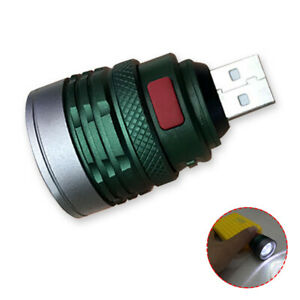 Portable USB Powered Flashlight LED Camping Light 3 Mode Mini Torch Lamp Zooming