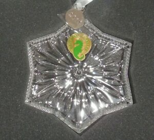 Waterford 2019 Snow Crystal Christmas Ornament 40035470 New Snowflake