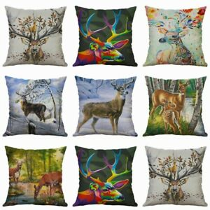 Pillow Decor Case 18quot; Home Waist Covers Sofa Cover Deer Cushion Fashion Pillow $3.16