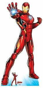 Iron Man Official Lifesize Marvel Avengers Cardboard Cutout with Free Mini GBP 37.29