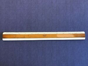 Vintage Bruning 72 168 ASA Style H Drafting Ruler Full amp; Half Sized Scale German $11.99