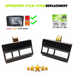 2 For Liftmaster Chamberlain 973lm (3-Button) Garage Door Opener Remote hbw1241