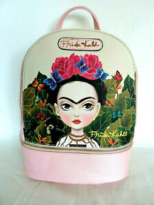 FRIDA KAHLO Cartoon Series Authentic Licensed Small Pink Backpack $58.00