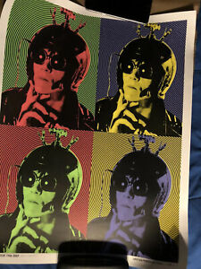 Lux Interior Numbered Vintage Lithograph Authentic The Cramps Signed By Artist $100.00