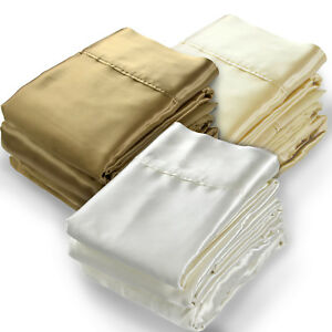 Pure Mulberry Silk Charmeuse Sheets Set $399.00