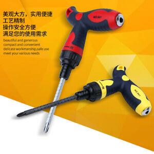 Screwdriver Anti slip Alloy Steel T Handle Ratchet Screwdriver Repair Hand Tools