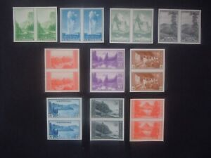 #756 765 1935 National Park Imperforated Pairs MNH NGAI VF #1