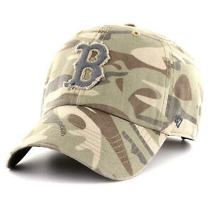 Boston Red Sox 47 Brand Tarpoon Army CAMO Low-Profile Adjustable Dad Hat