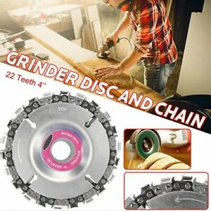 5in Grinder Disc Tooth Fine Chain Saw 5 Inch Angle Carving Culpting Wood Plastic