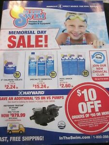 IN THE SWIM CATALOG SUMMER 2019 DISCOUNT POOL SUPPLIES amp; EQUIPMENT BRAND NEW $9.99