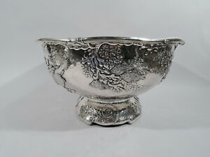 Tiffany Bowl - 6483 - Japonesque Centerpiece Punch - American Sterling Silver