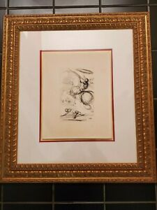 SALVADOR DALI Don Quixote Original Etching Paris NYC Guild Embossed Seal COA $139.00