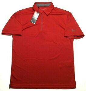 Under Armour HeatGear Loose Fit Polo Golf Shirt Men's Large Red Short Sleeve New $31.95