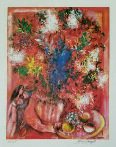 MARC CHAGALL HAND SIGNED & NUMBERED 1975 COLOURFUL PRINT + BID NOW !