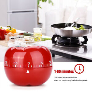 Durable Tomato Shaped Kitchen Mechanical Timer Cooking & Baking Helper Tool
