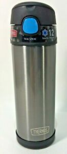 Thermos 16 Oz Funtainer 12-Hour Cold Drink Container Stainless Pushbutton Top