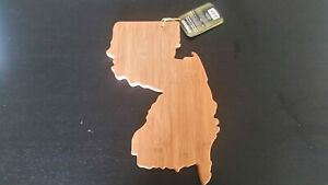 Totally Bamboo New Jersey State Cutting Serving Board -NEW, NWT- Wood Decor