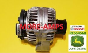JOHN DEERE OEM ALTERNATOR RE554568 14V 120A 0124515194 GENUINE 0 124 515 194