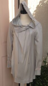Authentic DONNA KARAN Silk Hooded Jacket Size 4 $1195. NWT $350.00