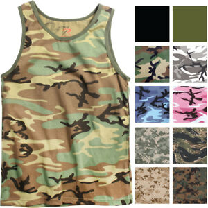 Camo Tank Top Sleeveless Muscle Tee Camouflage Tactical Army Military A T Shirt $13.99