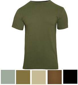 Solid Color Tactical T Shirt Plain Army Military Outdoors Camp Short Sleeve Tee $10.99