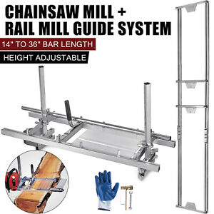 Portable Chainsaw mill 36 Inch Planking Milling Saw Log+ Rail Mill Guide System