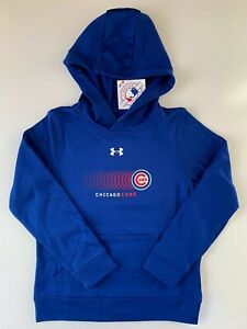 Under Armour Youth Chicago Cubs MLB Hoodie 1348965 400 Blue S $32.00