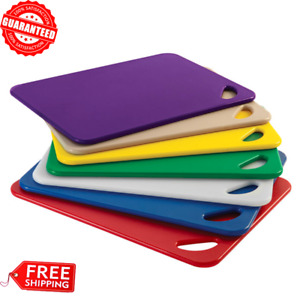 Assorted Color 7-Piece Polyethylene Kitchen Cutting Board Set - 20