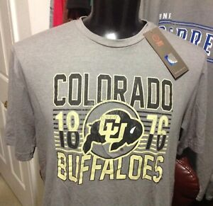 Image One Mens Size Large Colorado Buffaloes Gray Shirt New with Tags $14.50