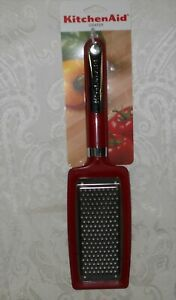 KitchenAid Flat Grater Stainless Steel KC302OHAOAER Empire Red NWT FREE SHIPPING $24.99