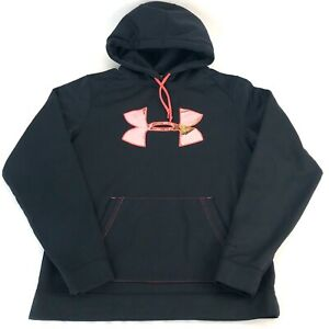 Under Armour Cold Gear Semi Fitted Hoodie Pullover Big Girl Juniors M Sweatshirt $29.99