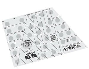Creative Grids Lazy Angle Quilting Ruler Template CGR3754 $51.99
