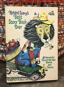 Vtg Richard Scarry's BEST STORY BOOK EVER 82 stories poems BIG GOLDEN 1968 V Z