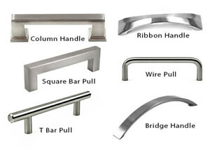 Modern Handle Square Bar Pull Kitchen Bathroom Cabinet Cupboard Brushed Hardware $1.16