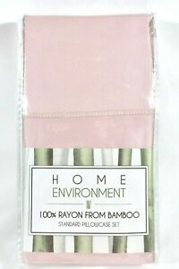 STANDARD White, Lilac or Pink BAMBOO PILLOWCASES Home Environment Silky 100% New