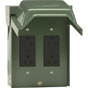 GE Backyard GFCI Outlet With 2 Receptacles