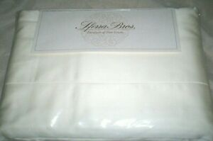 Ivory QUEEN Sheet Set 100% LONG STAPLE Cotton Sferra Italian Sateen 300TC