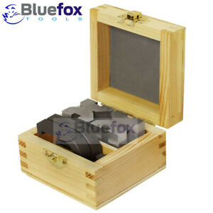 Precision Engineers Vee Blocks Clamp Set V Block Matched Pair Wooden Box