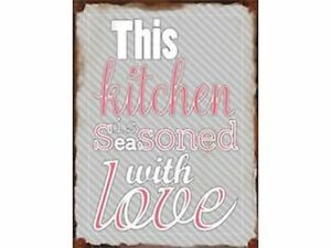 Kitchen Love Vintage Metal Sign