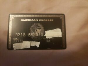 AMERICAN EXPRESS CENTURION BLACK CARD METAL VINTAGE EXPIRED 04/09 100% AUTHENTIC