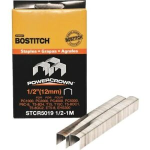 Bostitch Powercrown Hammer Tacker Staple 1 2 In. 1000 Pack Pack 5 $30.49