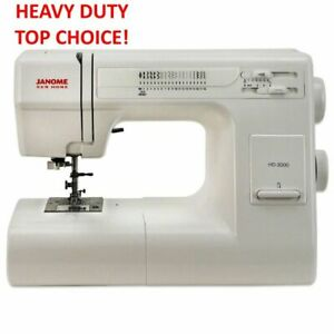 Janome HD3000 Heavy Duty Full Size Sewing Machine Refurbished with Warranty $339.00