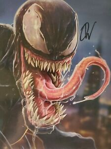 VENOM 30TH ANNIVERSARY LITHO PRINT SIGNED BY DAN LUVISI FREE COMIC BOOK DAY 2018