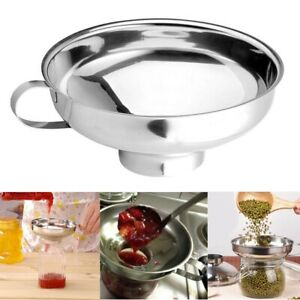 Stainless Steel Wide Mouth Funnel for Beans Jam Food Powder Kitchen Gadgets Tool