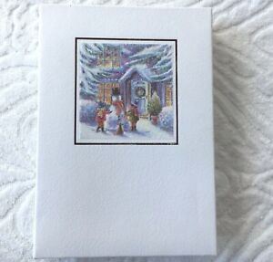 The Gift Wrap Company Season#x27;s Greetings 10 Foiled Embossed Cards Envelopes $6.99